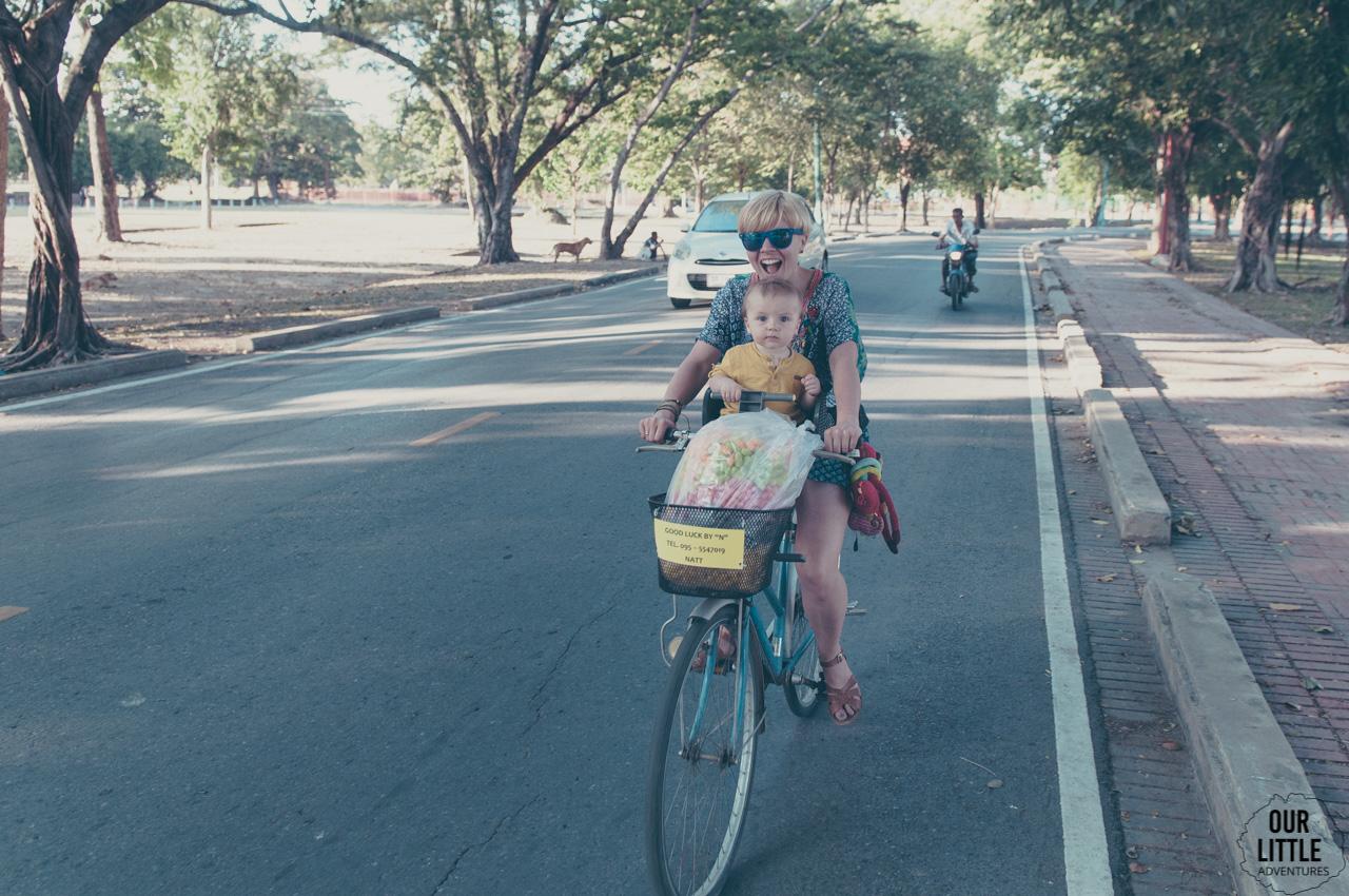 Rowerem w Ayutthaya