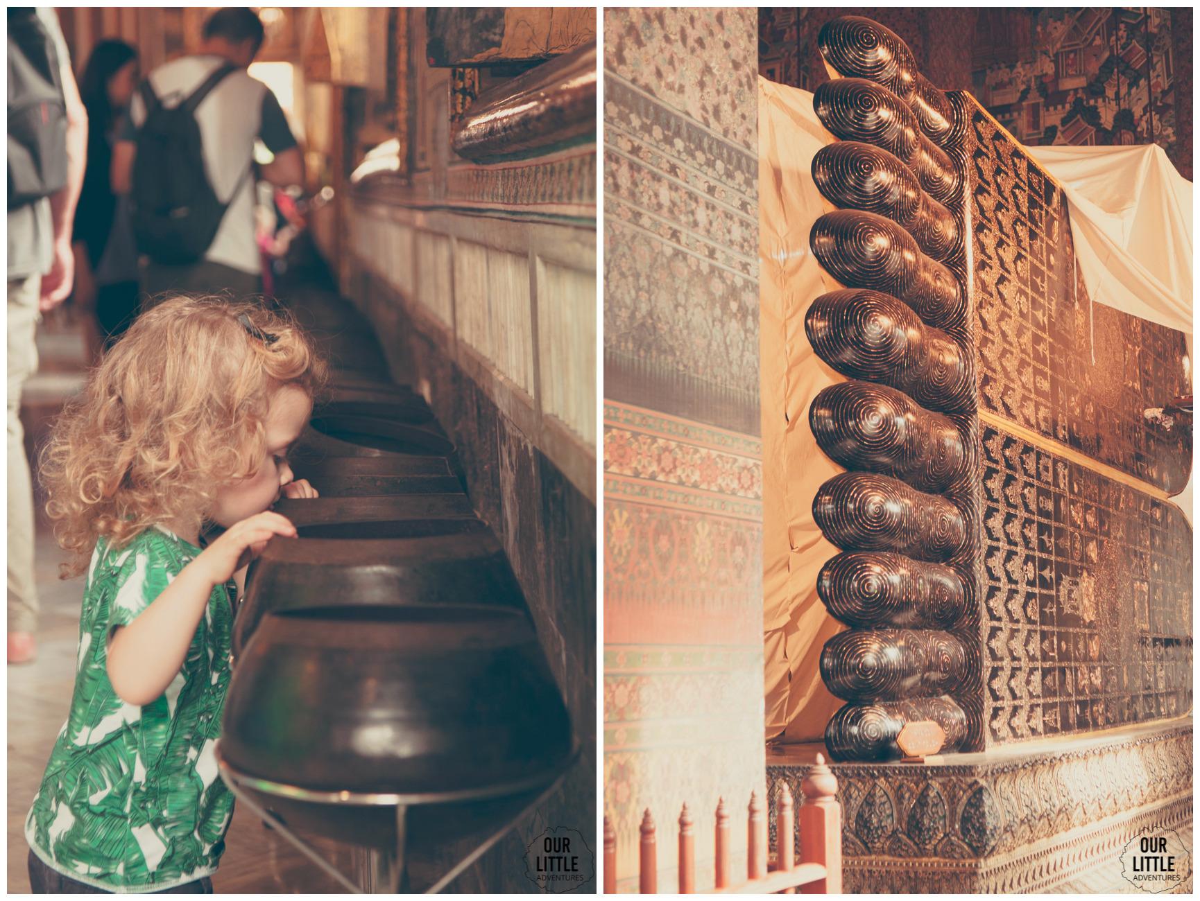 leżący, złoty Budda w Wat Phra Kaew
