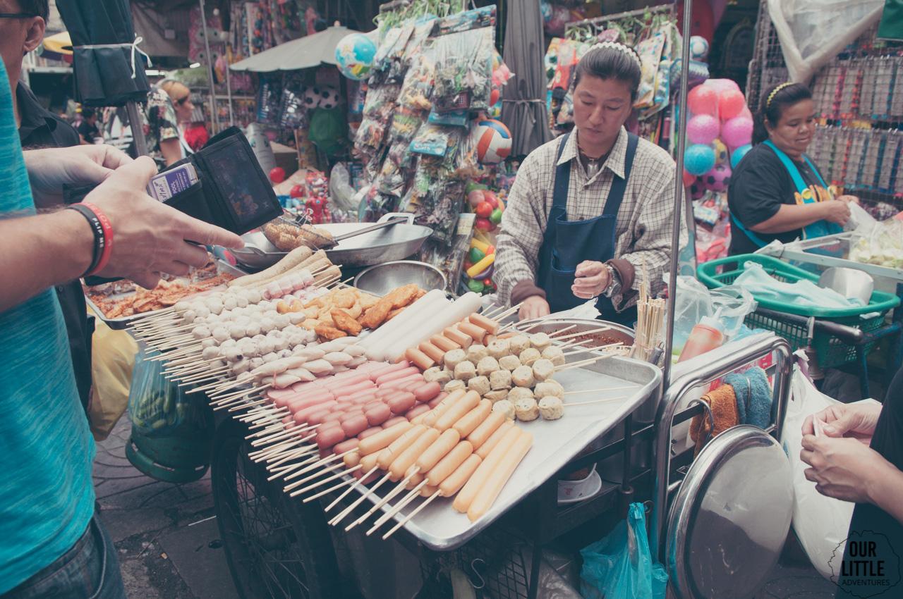 Chinatown w Bangkoku z dziećmi