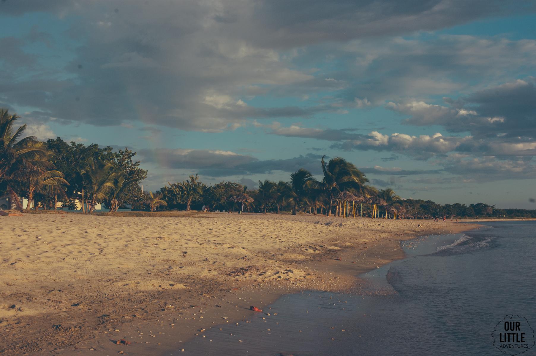 zachód słońca na południu Kuby w Rancho Luna