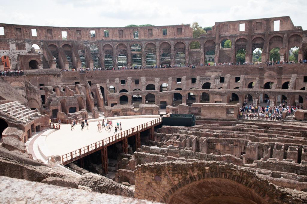 Widok na rzymskie koloseum