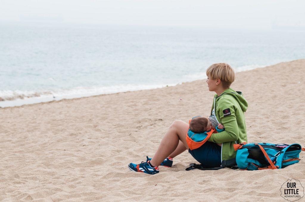 plaża w Valparaiso - Chile z dzieckiem