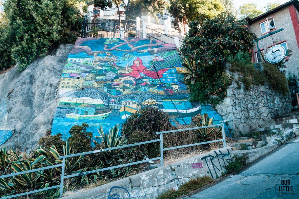 murale w mieście artystów - Valparaiso chile