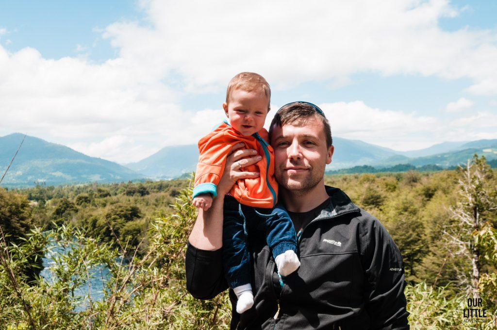 z dzieckiem w Chile - jazda na rowerze okolice Pucon