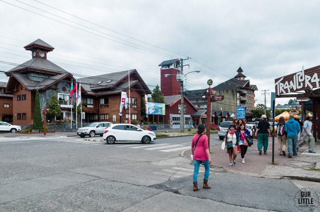 Skrzyżowanie w Pucon - miasteczko w Chile
