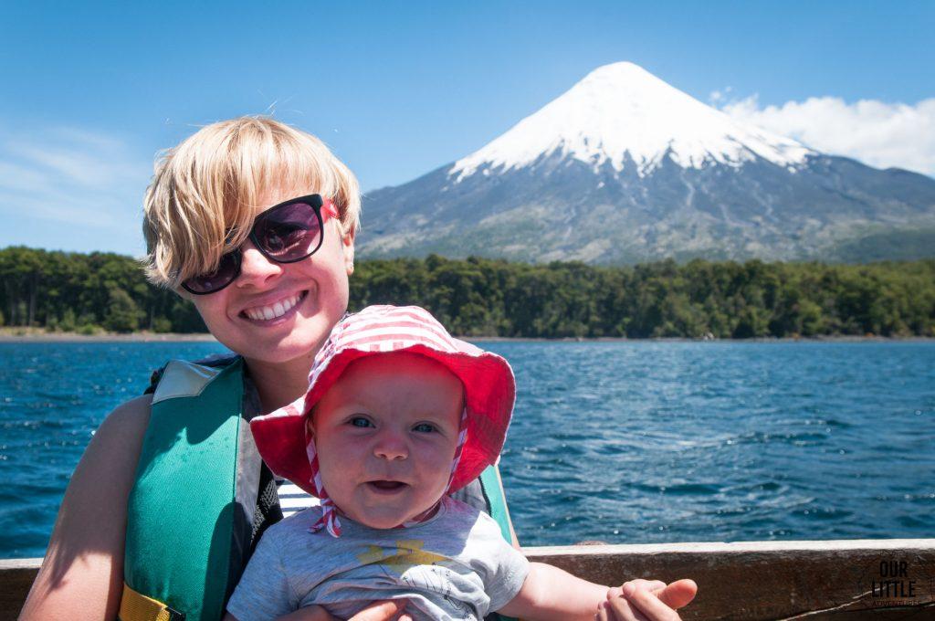 Jezioro wszystkich świętych, w tle wulkan Osorno
