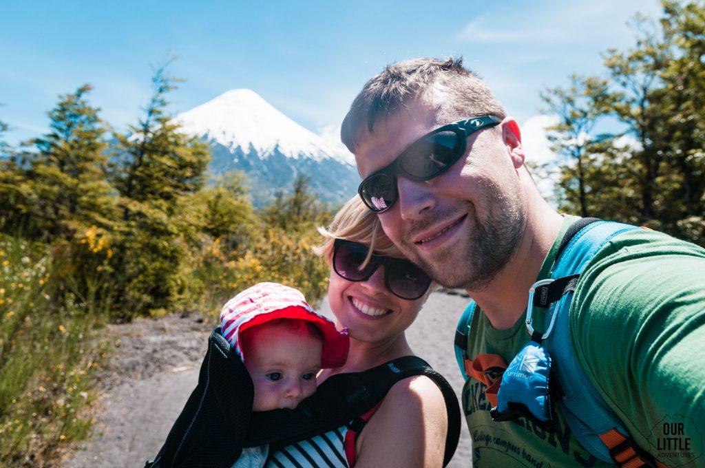 rodzinny trekking w koło wulkanu Osorno - Chile okolice puerto Montt