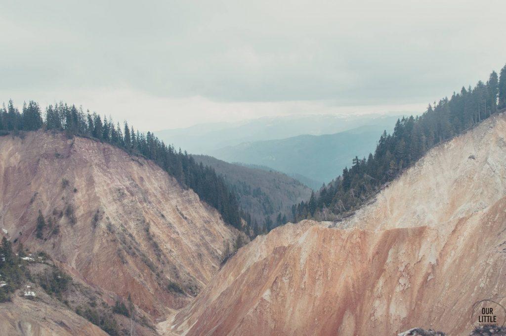 Kanion z piaskowca Groapa Ruginoasa