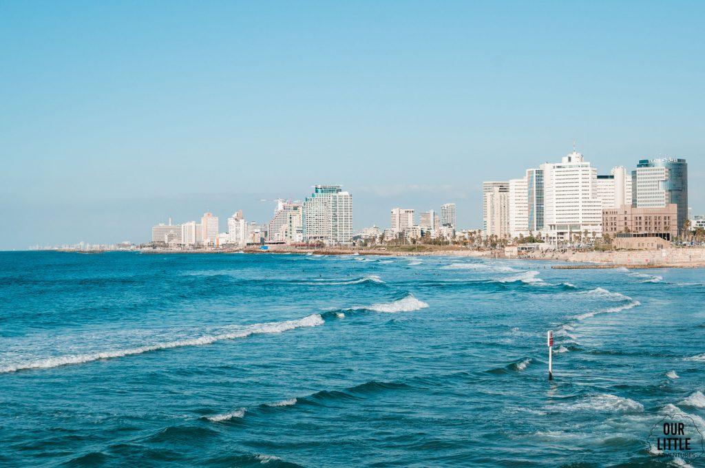 Widok na wybrzeże Tel-Awiwu