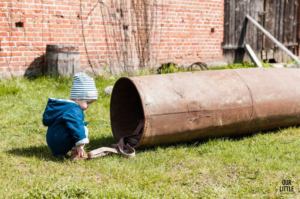 Mania w Siedlisku Pasieka bawi się na podwórku
