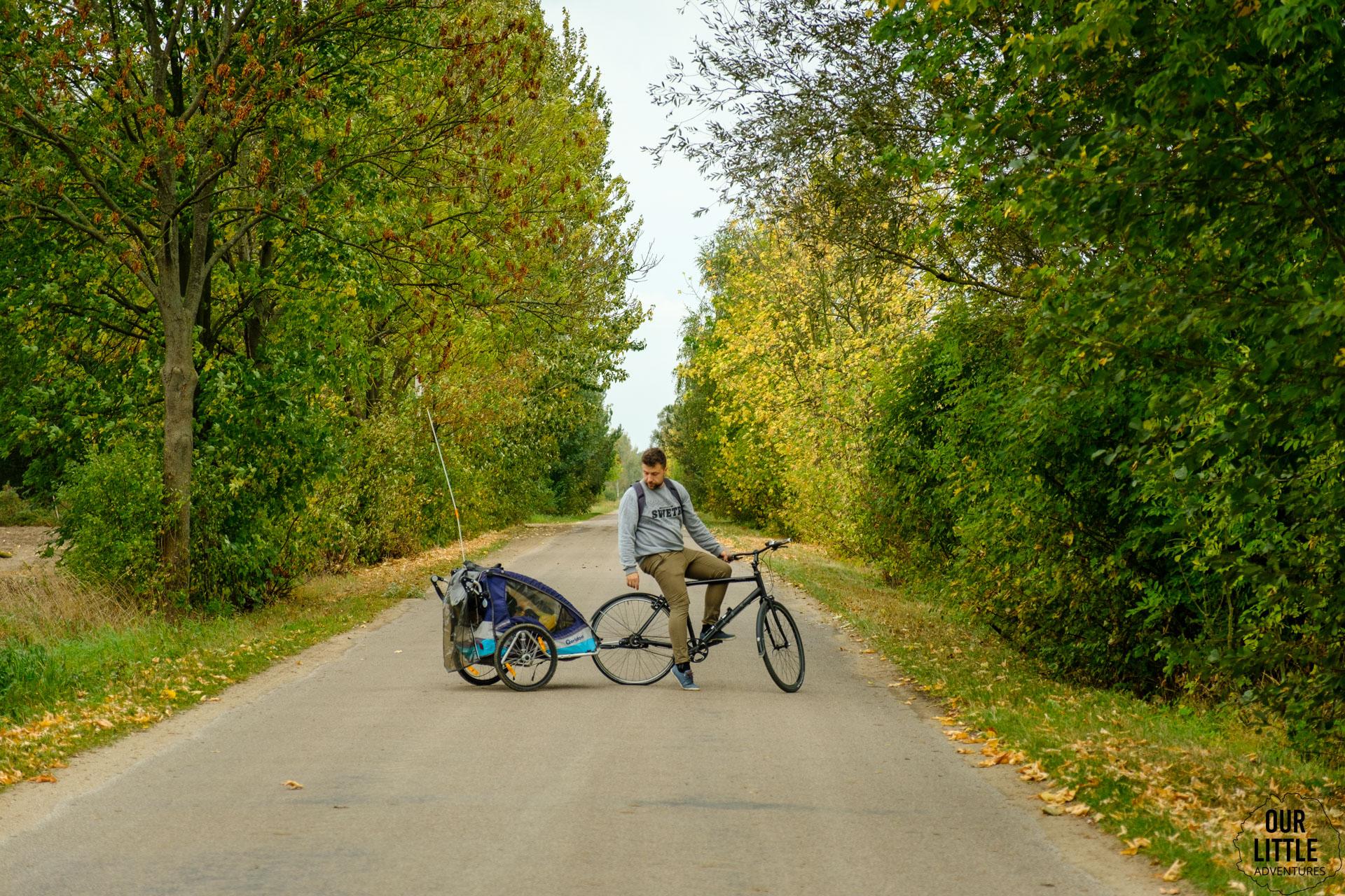 Przyczepka rowerowa Qeridoo Sportrex 2, Our Little Adventures
