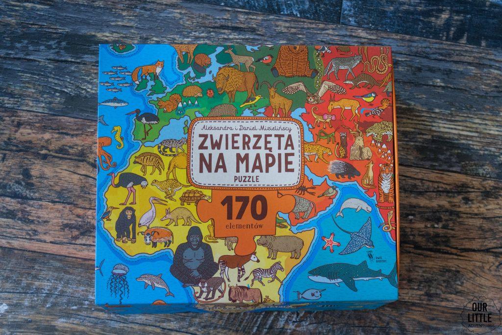 Mapy dla dziec - puzzle Zwierzęta na mapie, Dwie Siostry