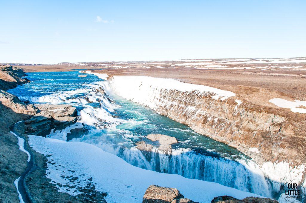 Gulfoss jeden z większych wodospadów na Islandii, częśc złotego kręgu.