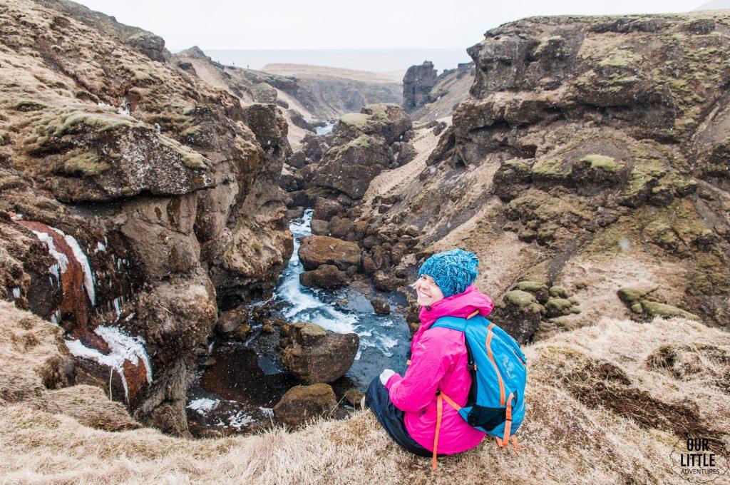 trekking miedzy dwoma lodowcami Eyjafjallajökull i jego większym kuzynem Mýrdalsjökull