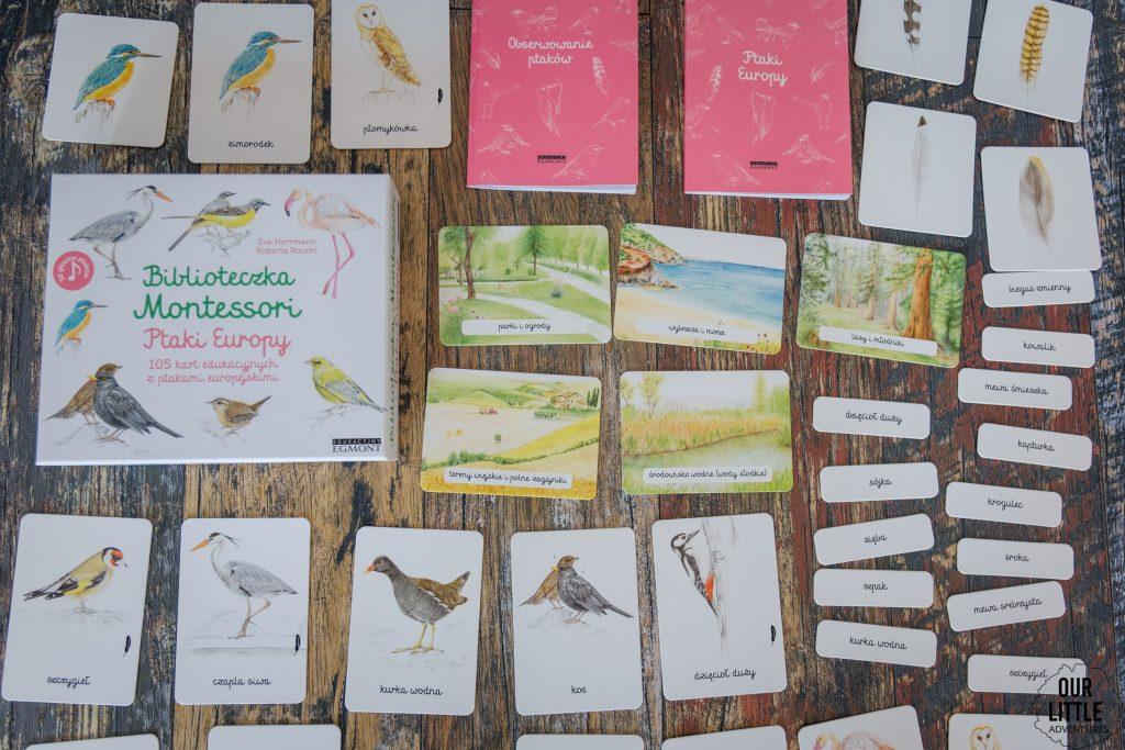 Metoda Montessori - Biblioteczka Montessori: Ptaki Europy, Wydawnictwo Egmont