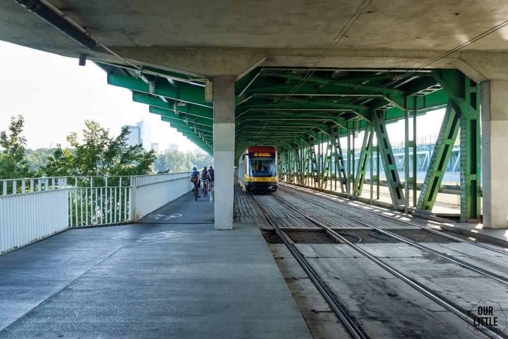 Trasa rowerowa w Warszawie, Most Gdański, ścieżka rowerowa