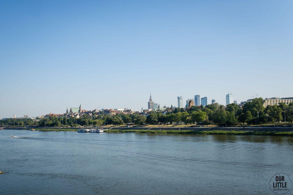 Trasa rowerowa w Warszawie, Warszawa widziana z Mostu Gdańskiego, Our Little Adventures