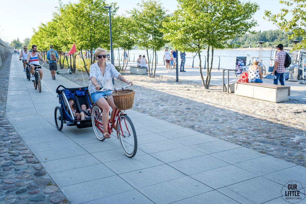 Bulwary Wiślane - trasa rowerowa w Warszawie