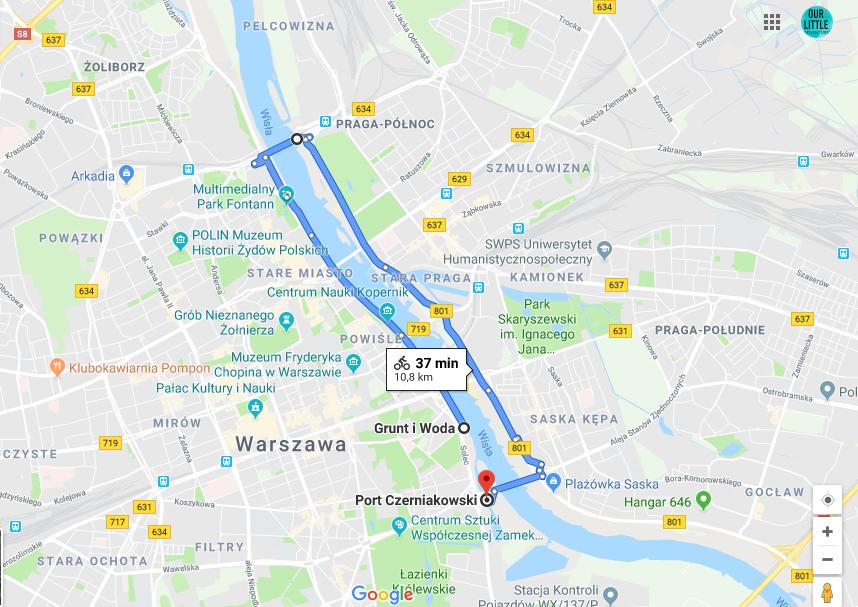 Rodzinna trasa rowerowa w Warszawie nad Wisłą, Our Little Adventures