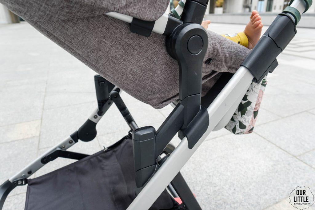 Specjalna przejściówka do montażu wózka spacerowego Thule Sleek przodem do rodzica.