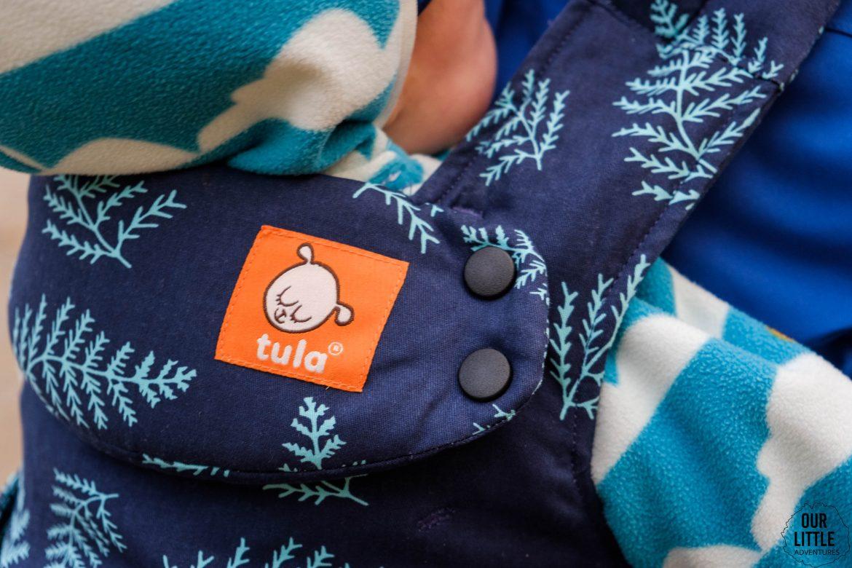 usztywniany zagłówek dla dziecka w Tula Explore test i porównanie nosidełek Tuli