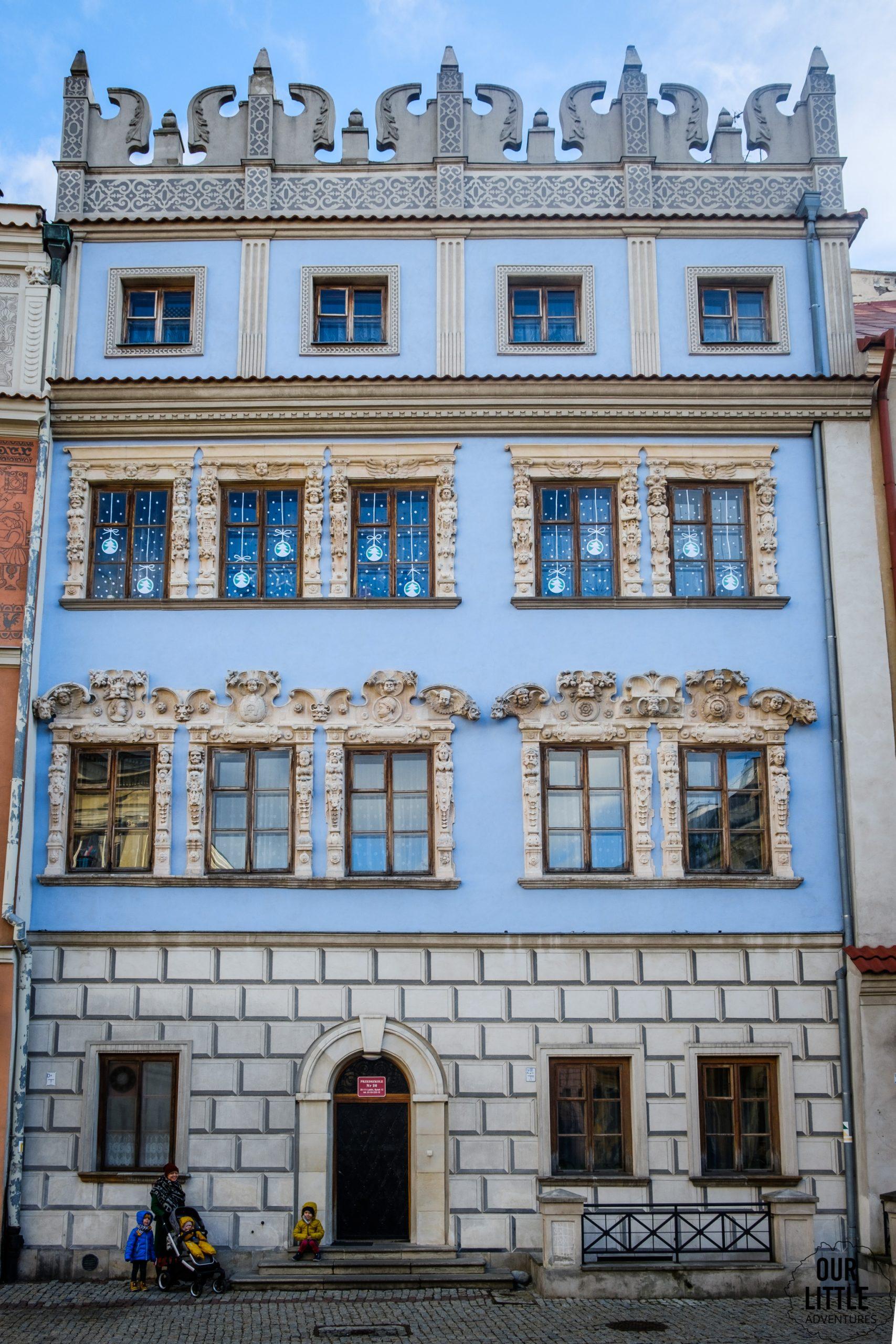 Kamienice Starego Miasta w Lublinie - kamienica konopniców, niebieska