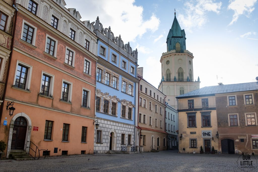 Stare Miasto w Lublinie widok na wieżę Trynitarską