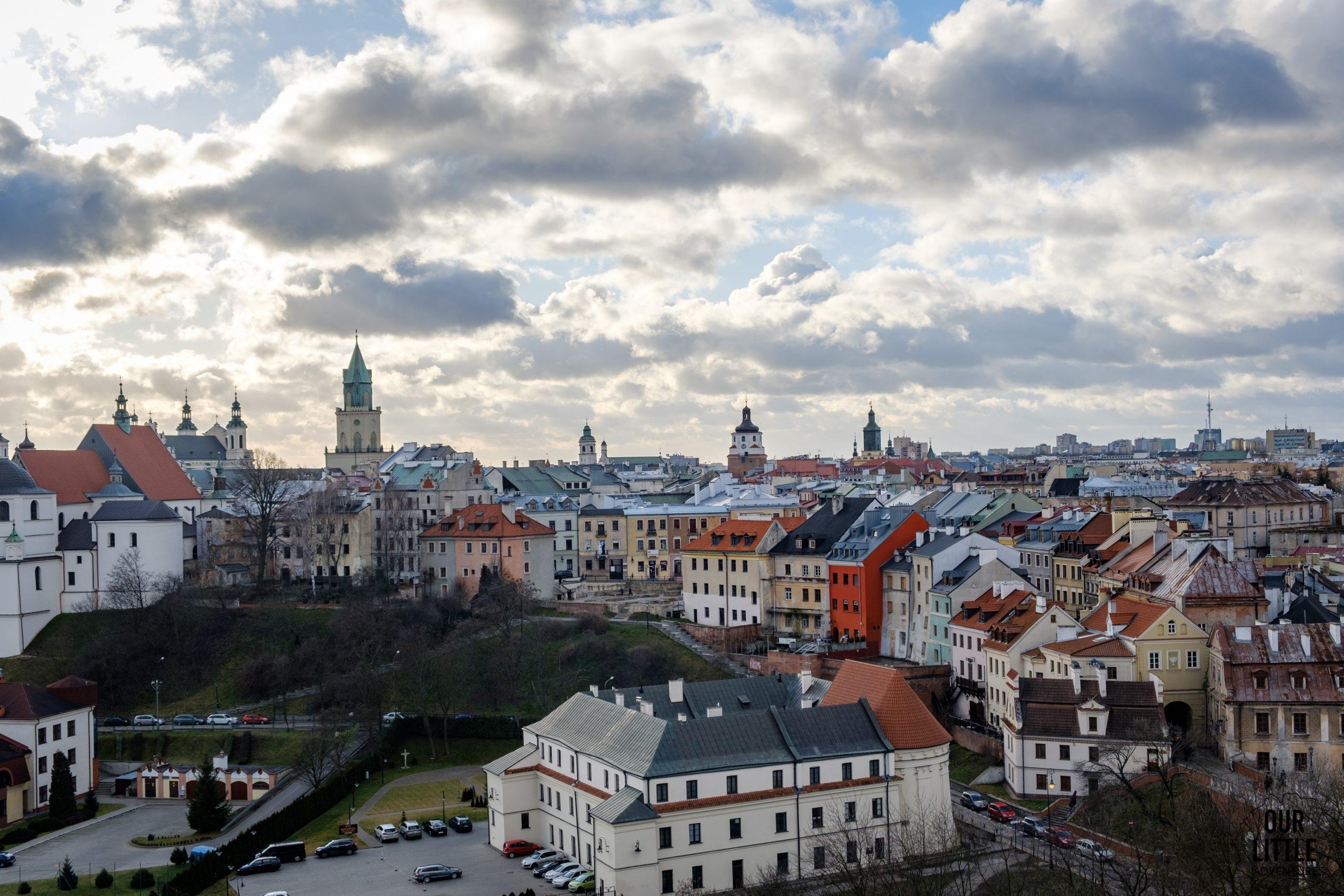 Panorama Lublina z baszty na zamku - warto zobaczyć w ramach spaceru po Lublinie