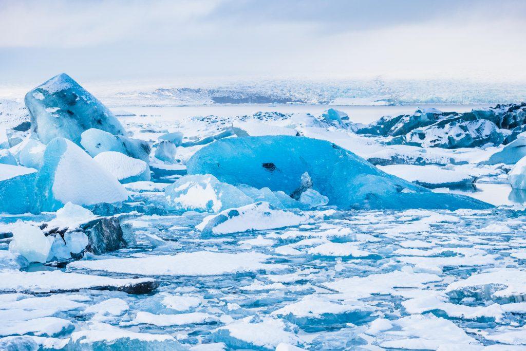 kra z lodowaca w Lagunie Jokulsarlon