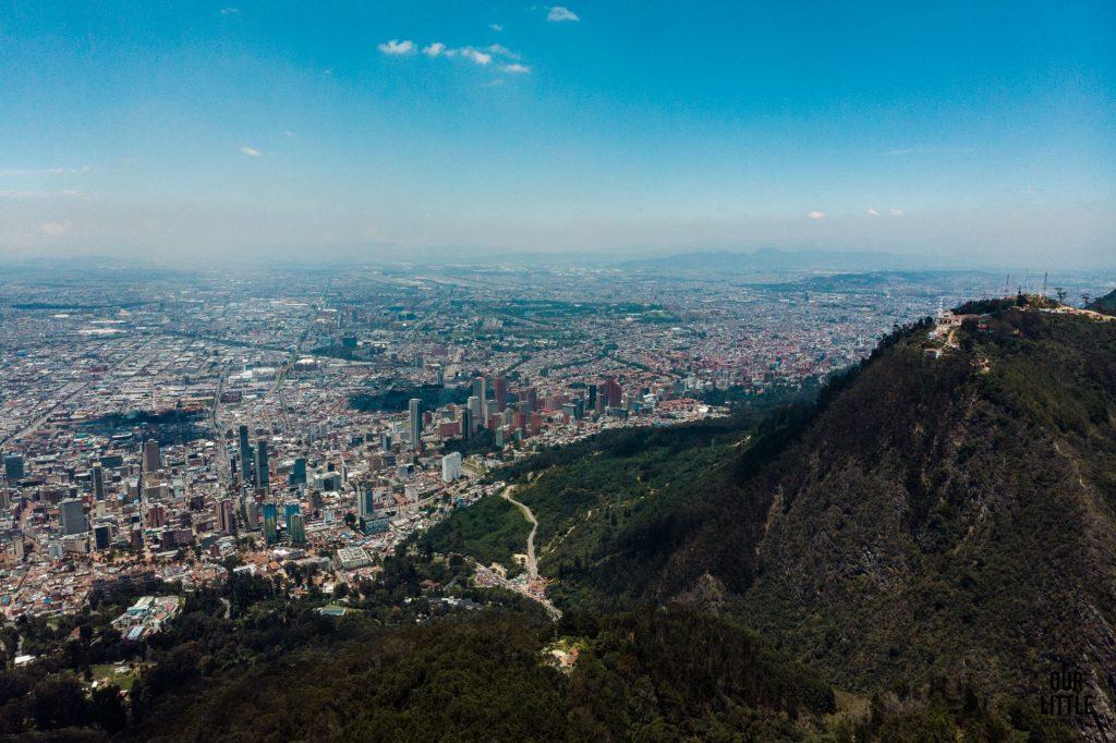 Widok na Monseratte w Bogocie