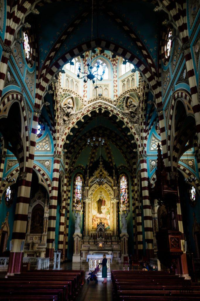 wnętrze sanktuarium Nuestra Señora de El Carmen