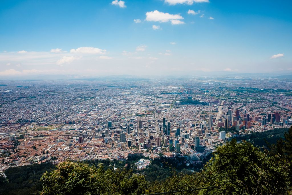 Widok na Bogotę z cerro de Guadalupe