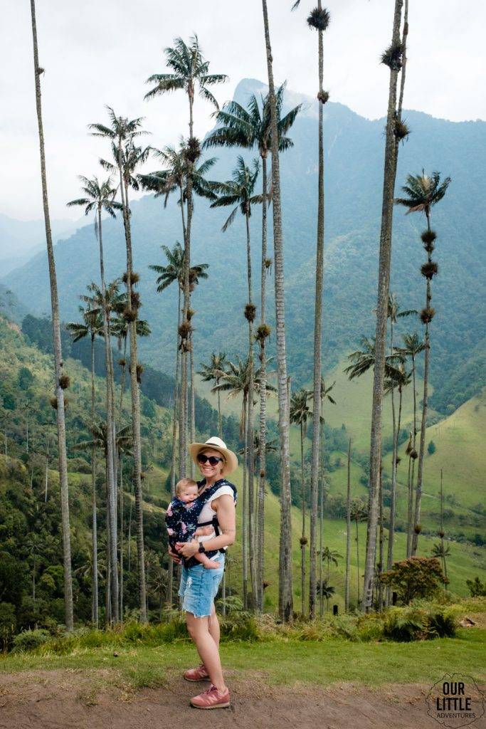 Drugi punkt widokowy podczas trekkingu w Valle de Cocora