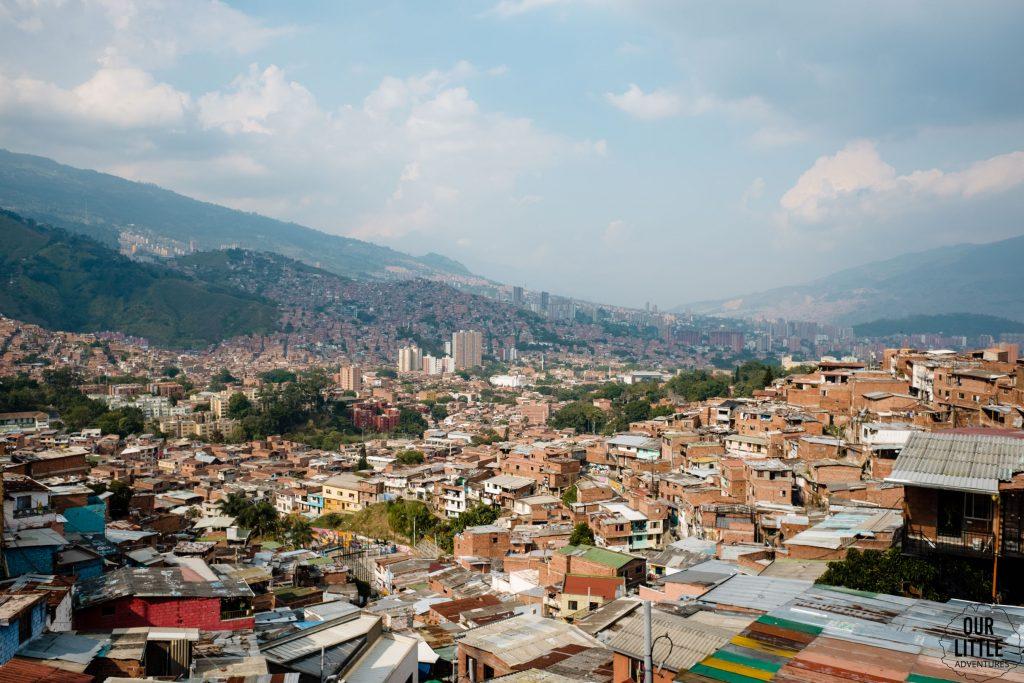 Widok na Medellin z 13 dzielnicy