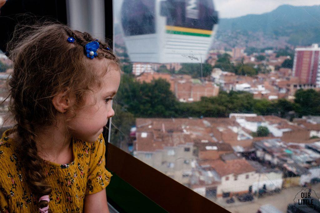 Kolejka linowa w Medellin