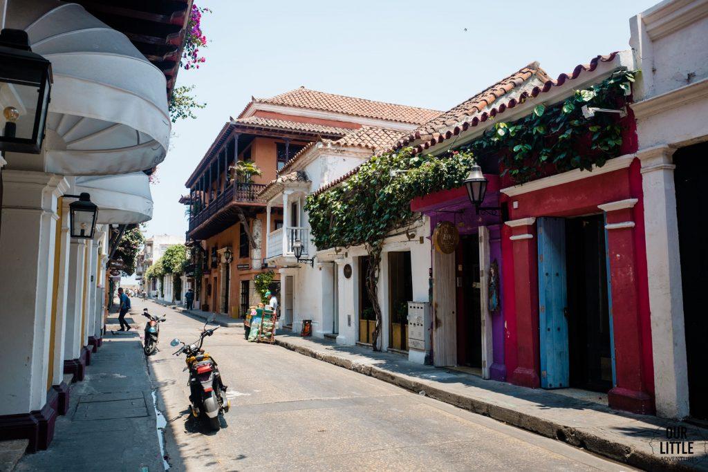 kolorowe domy w Cartagenie