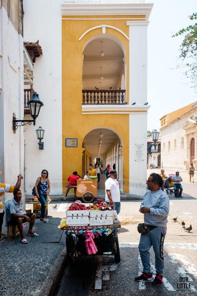 Stoisko sprzedawcy w Cartagenie