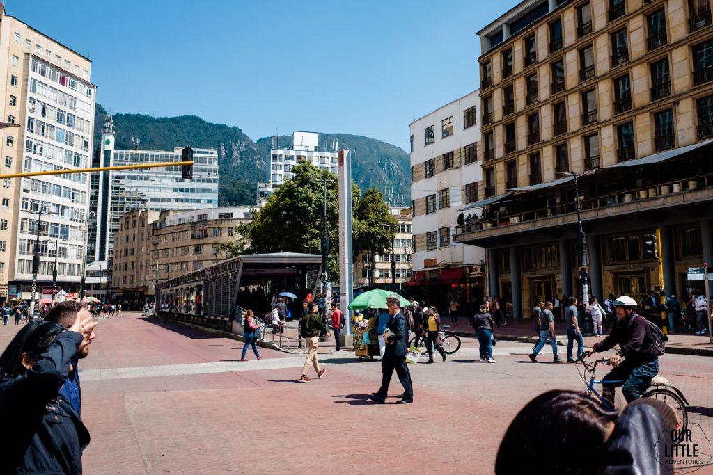 Przystanek Transmilenio w stolicy Kolumbii
