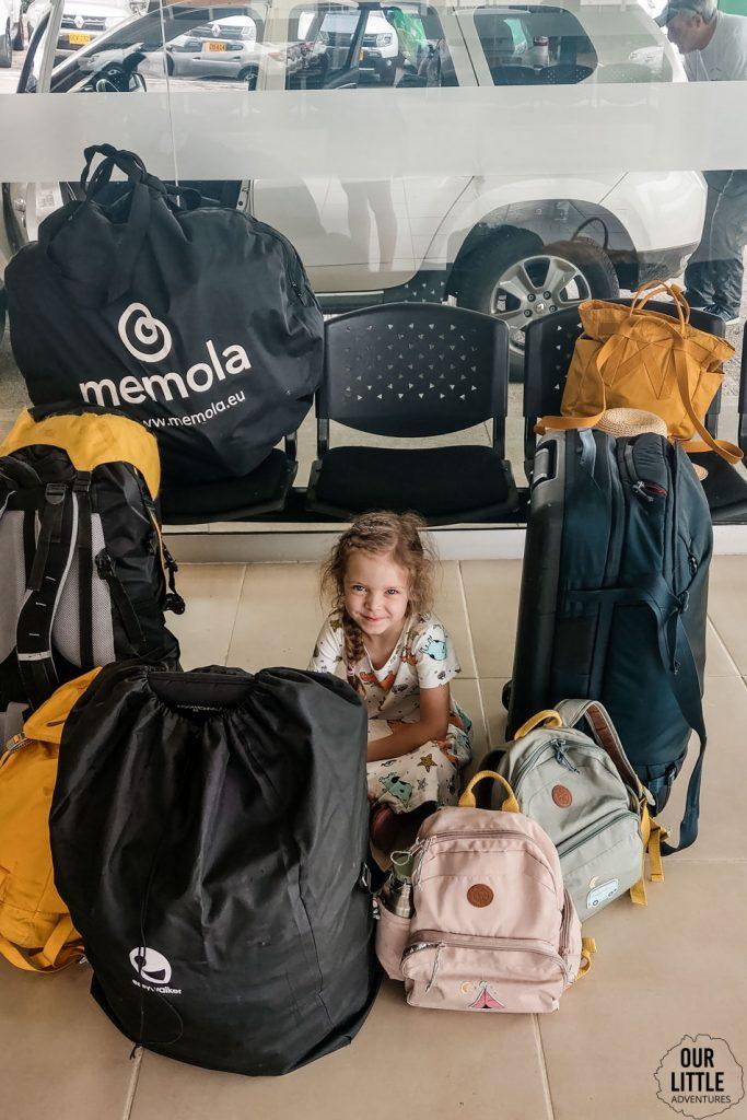 Wszystkie bagaże jakie zabraliśmy do Kolumbii