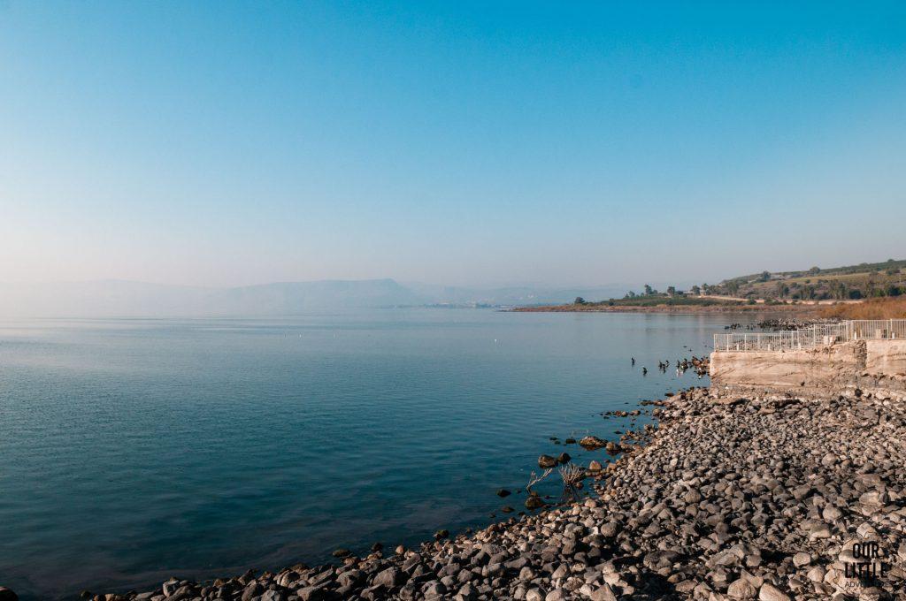 brzeg jeziora galilejskiego