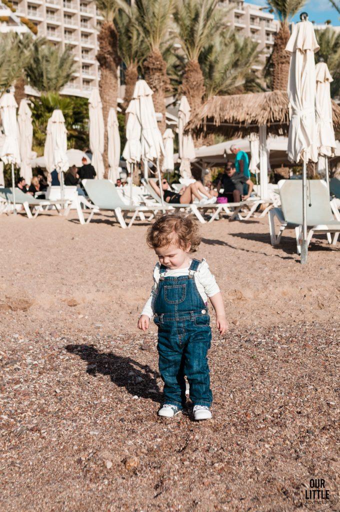Marianka na plaży w Ejlat