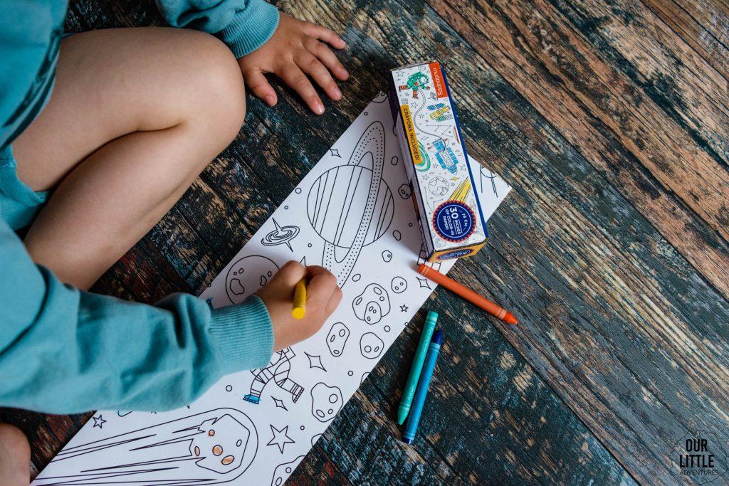 Kosmiczna kolorowanka w rolce, kosmos dla dzieci