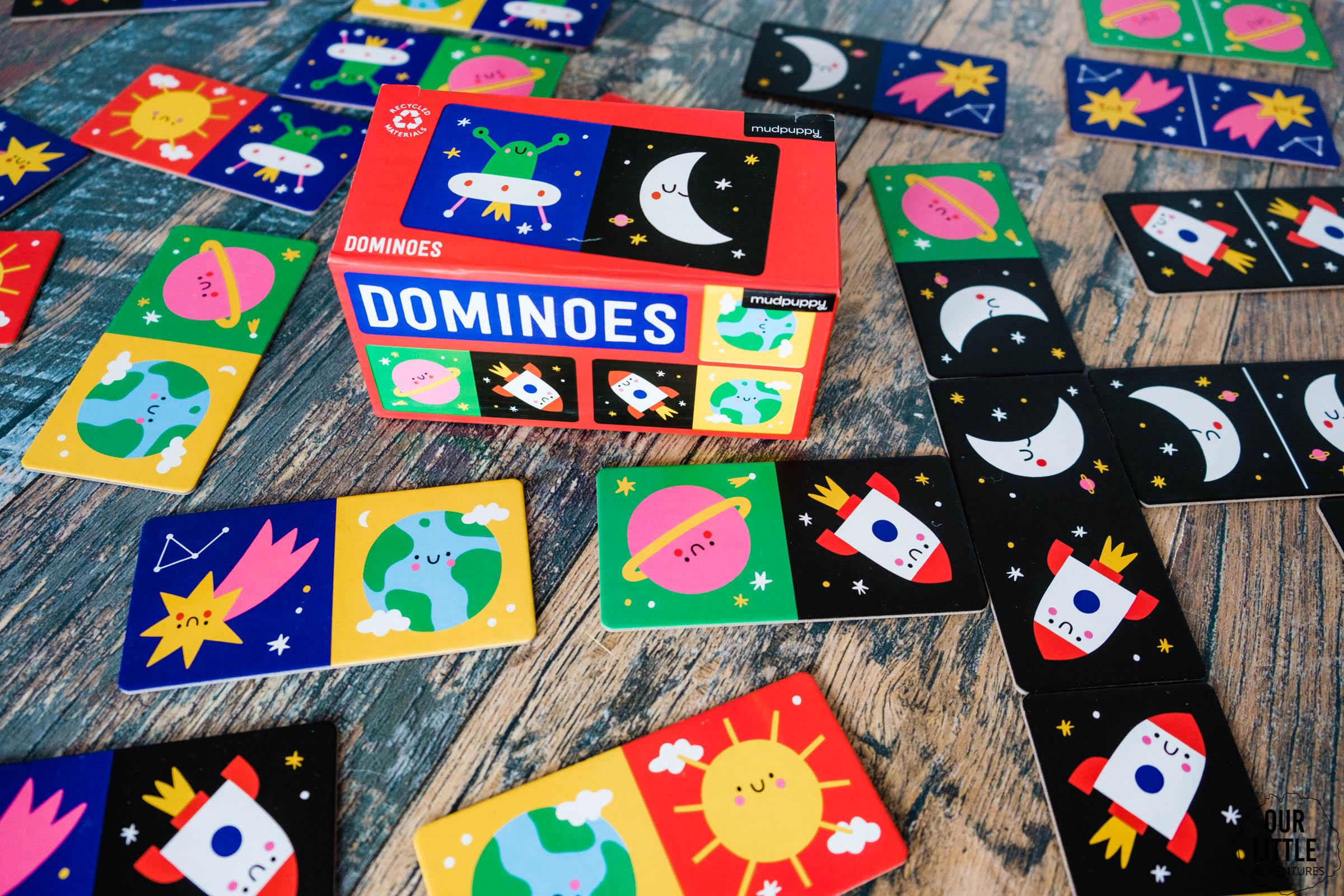 Kosmiczne domino, marka Mudpuppy, kosmos dla dzieci