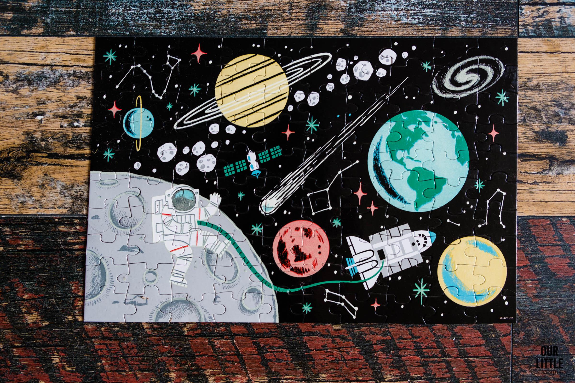 Puzzle świecące w ciemności, Janod, kosmos dla dzieci