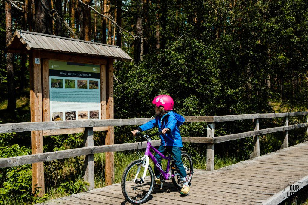 Dziewczynka na rowerze woom 4