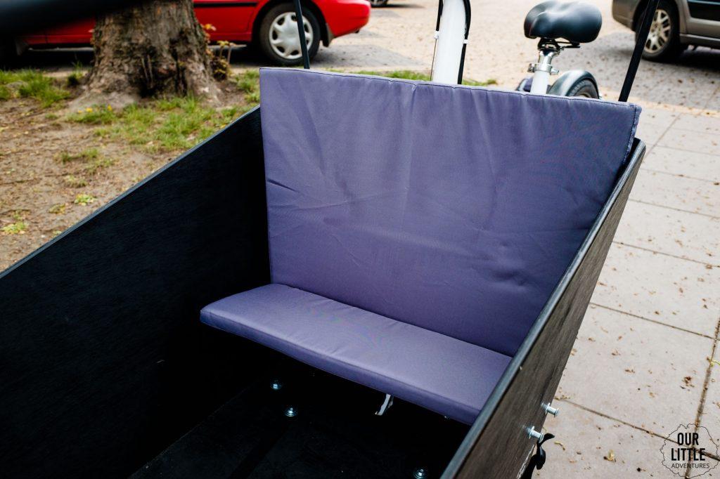poduszka do siedzenia w Stork cargo bike