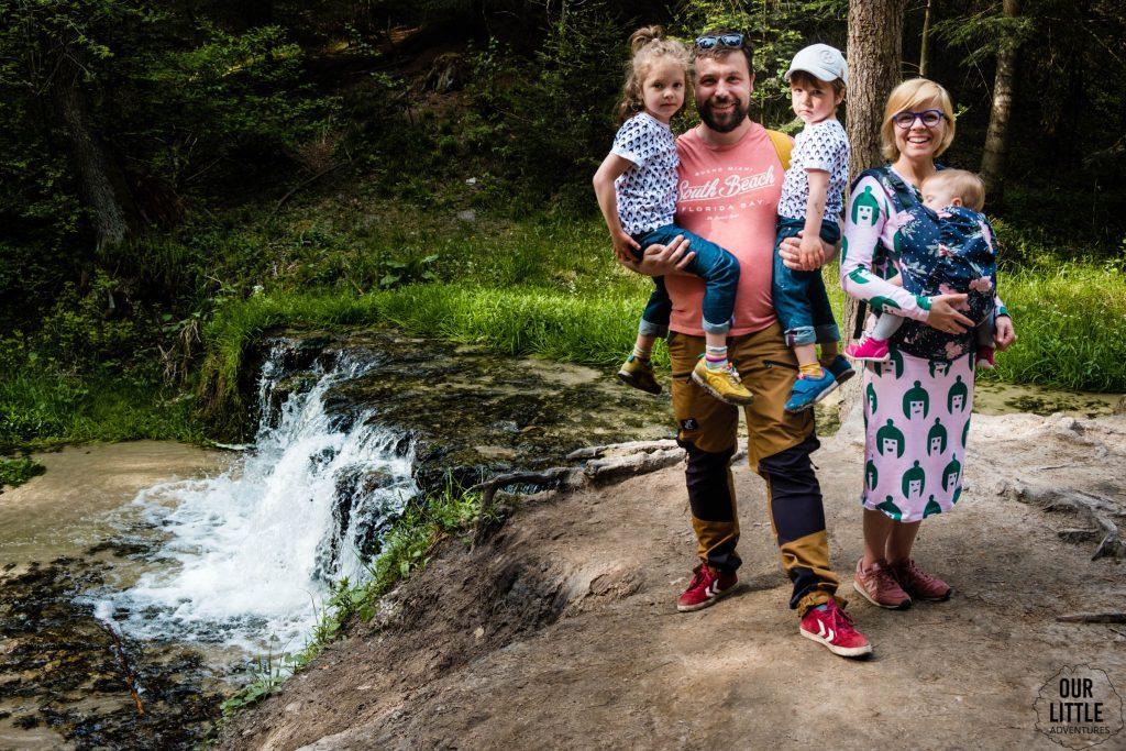 Największy wodospad na roztoczu - wodospad Jeleń