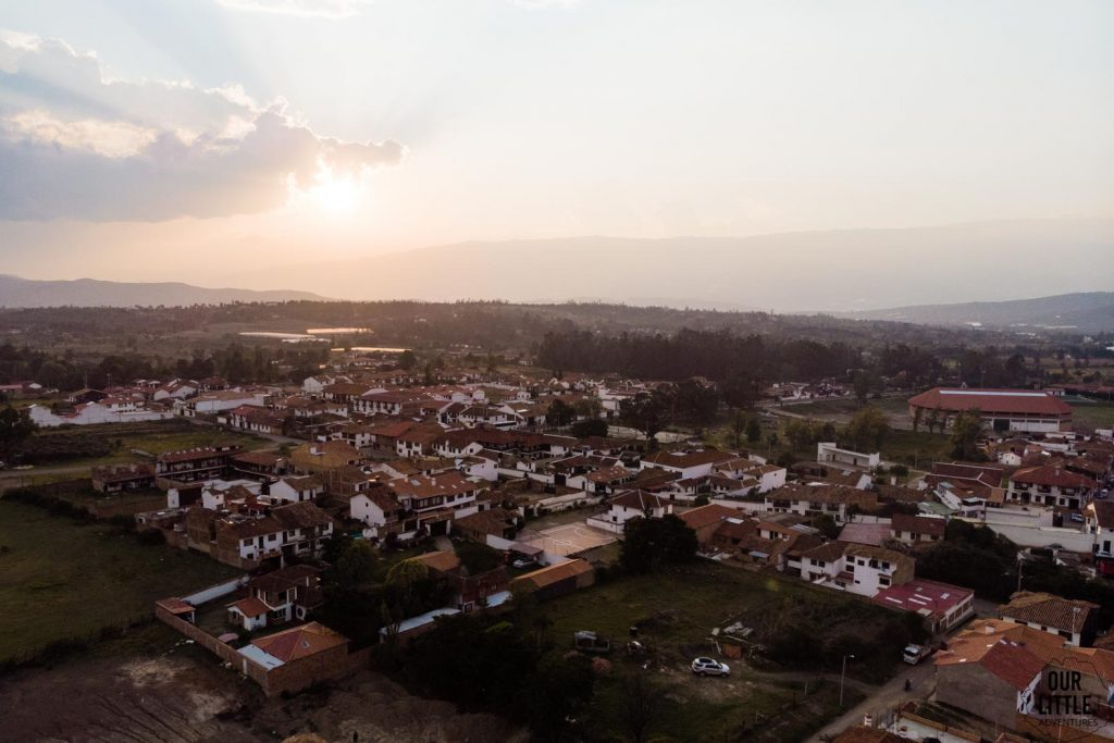 Villa de Leyva z drona