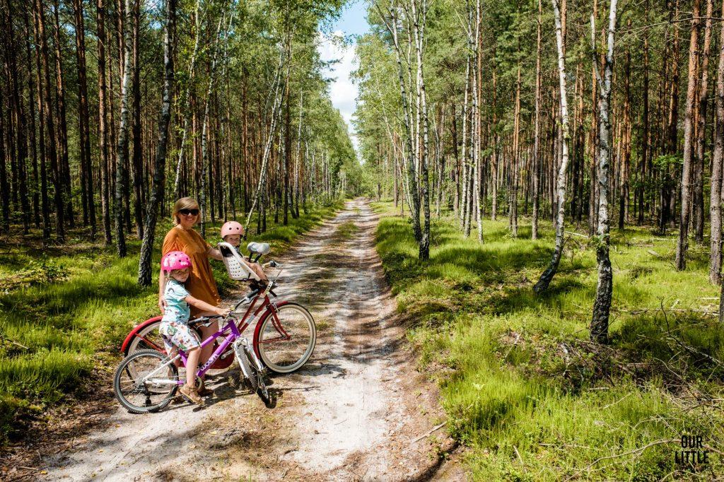 House for Rest - leśny reset w nowoczesnej stodole pod Warszawą, ścieżka rowerowa w Nadbużańskim Parku Krajobrazowym