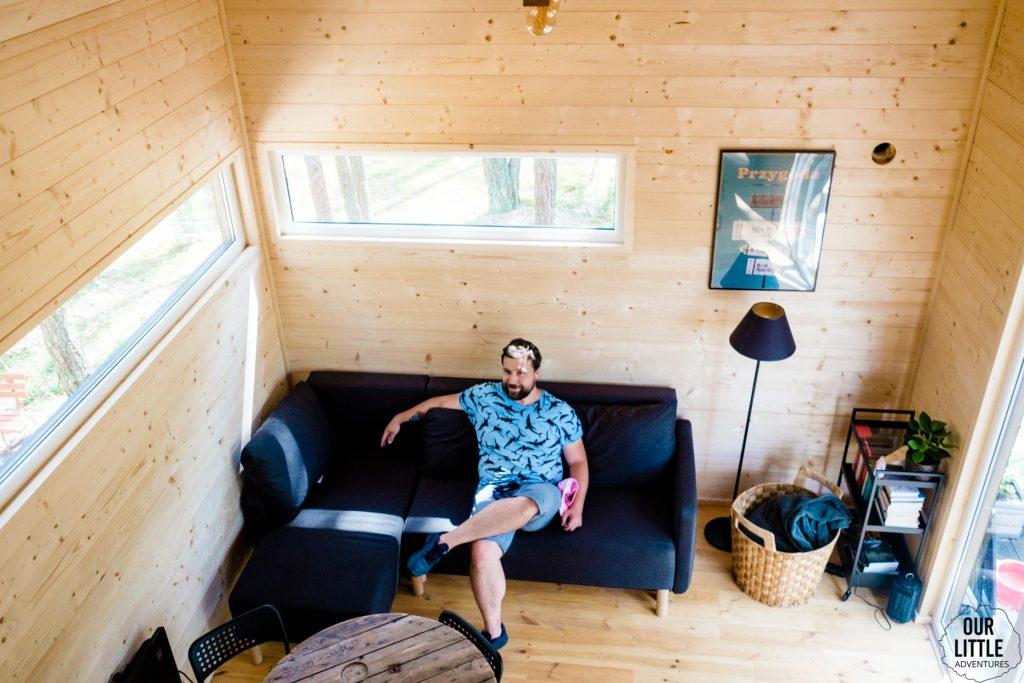 House for Rest, wnętrze domku